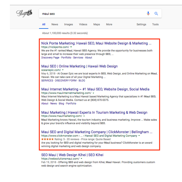 SEO Discovery Page 1